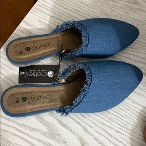 Blue jean mules - NEW